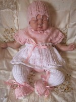KNITTING PATTERN KSB 29*** GRACE BABY BALLET SET, FOR YOUR REBORN OR NEW BABY GIRL.