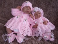 CROCHET PATTERN KSB 25* FOUR LITTLE CHERUBS*TO FIT A PREMATURE BABY OR REBORN DOLL.