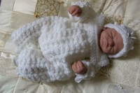 CROCHET PATTERN KSB 4***CHRISTENING SUIT FOR A BABY BOY 0-6 MTHS OR REBORN DOLL