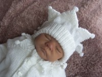 KNITTING PATTERN KSB 19*** BABY JESTER**CARDIGAN, HAT AND BOOTIES FOR A NEWBORN BABY OR REBORN DOLL