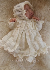 KNITTING PATTERN KSB 113..OPHELIA..A MATINEE COAT, DRESS, BONNET AND BOOTIES IN 4 SIZES