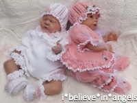 KNITTING PATTERN KSB 42***COCO***FRILLY ROMPER SET OR ANGEL SET 4 PIECE  MATINEE SET TO MAKE FOR YOUR BABY GIRL OR REBORN DOLL
