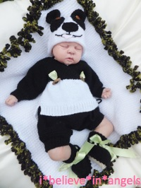 KNITTING PATTERN KSB 45***TING TING***4 PIECE PANDA/TEDDY SET AND BLANKET TO MAKE FOR YOUR BABY OR REBORN DOLL
