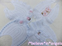 CROCHET PATTERN KSB 44***ANGEL BIBS***THREAD CROCHET LACE BIBS MAKE FOR YOUR BABY OR REBORN DOLL