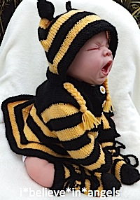 KNITTING PATTERN KSB...54. **MR. BUMBLE** FUN STRIPED ROMPERS, COAT, HELMET AND SOCKS FOR NEWBORN0- 3 MONTHS BABY OR DOLL