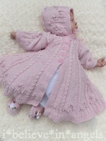 KNITTING PATTERN KSB..66**MILLY'S SECRET GARDEN* A BEAUTIFUL SPECIAL OCCASION COAT SET TO FIT 0 - 6 MONTHS