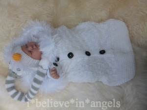 KNITTING PATTERN  KSB 69.. *BUNDLES OF JOY* COCOONS AND HATS IN 3 SIZES FOR BABY PHOTO SHOOT OR DOLLS