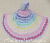 KNITTING PATTERN  KSB 70.. *WRAPPED IN A RAINBOW & SPARKLING SNOW CAPES* FOR BABY OR REBORN DOLLS