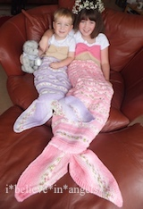 KNITTING PATTERN KSB 86.. TITANIA. MERMAID TAIL COCOON IN 3 SIZES
