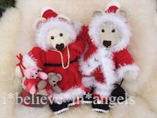 KNITTING PATTERN  KSB 78 **SANTA BEARS**BEARS WITH ATTITUDE AND OUTFITS!