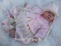 KNITTING PATTERN  KSB 82..ROCK 'N ROLL.. PLEAT ROMPERS, CARDI, HELMET & BOOTIES SETS 0/3 MTHS SIZE