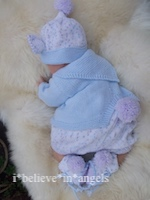 KNITTING PATTERN  KSB 83..HOPPITY BUNNY BABY/DOLLS  IN 3 SIZES