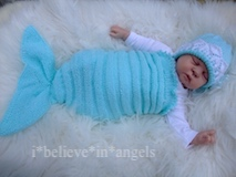 KNITTING PATTERN  KSB 85..LITLLE MIRACLE MERMAID TAILS. 4 DESIGNS IN 4 SIZES.