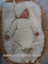 KNITTING PATTERN KSB..121...TINY ONES ... A is ADORABLE.  KNITS FOR TINY PREMATURE BABIES.