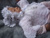 "KAM 159..ANGEL SET IN WHITE 16"" CHEST 0-3 MONTHS"