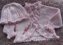 KNITTING PATTERN KSB 20 *** ROSY RUFFLES **BOLERO AND CLOCHE HAT IN 3 SIZES