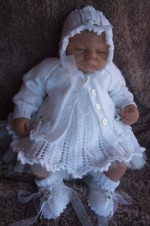 KNITTING PATTERN KSB 21*** PRECIOUS **GORGEOUS 4 PIECE DRESS SET FOR YOUR BABY OR REBORN DOLL