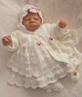 KNITTING PATTERN KSB 28*** MOONDANCE **GORGEOUS 4 PIECE LACY DRESS SET FOR YOUR BABY OR REBORN DOLL