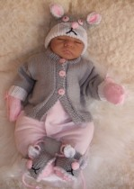 KNITTING PATTERN KSB 26*** LITTLE PETS**CARDIGAN SETS FOR YOUR BABY OR REBORN DOLL