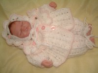 CROCHET PATTERN KSB 14* POCKETFUL OF STARDUST*TO FIT A MICRO PREM OR 10 INCH EMMY TYPE REBORN DOLL.