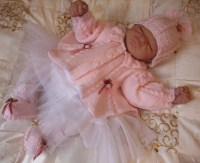 KNITTING PATTERN KSB 27***ROBINIA..twisty baby**MATINEE SETS FOR YOUR BABY OR REBORN DOLL
