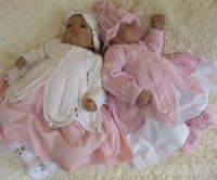 KNITTING PATTERN KSB 31***ROSSETTI***DELIGHFUL PETAL EDGED MATINEE SET TO MAKE FOR YOUR BABY GIRL OR REBORN DOLL