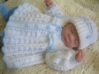 CROCHET PATTERN KSB 2 TWIN SAILORS ****MATINEE SETS FOR BABY BOYS AND GIRLS*** 0-6 MTHS.