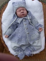 KNITTING PATTERN KSB..90 TO MAKE FRIDAY'S CHILD. COAT/CARDIGAN, TROUSERS, HAT AND BOOTIES. 0/3 MONTHS
