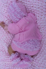 KNITTING PATTERN KSB..91 TO MAKE LITTLE NIX..VESTS PANTS HATS AND BOOTIES