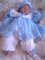 CROCHET PATTERN  KSB 10**SUMMERE BREEZE****MATINEE SETS FOR BABY BOYS AND GIRLS*** 0-6 MTHS.