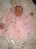 CROCHET PATTERN KSB 13 WHISPER OF ANGELS, ****CHRISTENING COAT AND JACKETS*** 0-6 MTHS.