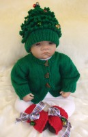 KNITTING PATTERN KSB 35** CHRISTMAS BABIES**FANCY CARDIGAN SETS IN 3 SIZES FROM NEWBORN TO 12 MONTHS