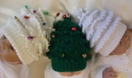 KNITTING PATTERN KSB 36** CHRISTMAS TREE HAT IN 9 SIZES FROM PREM BABY TO ADULT